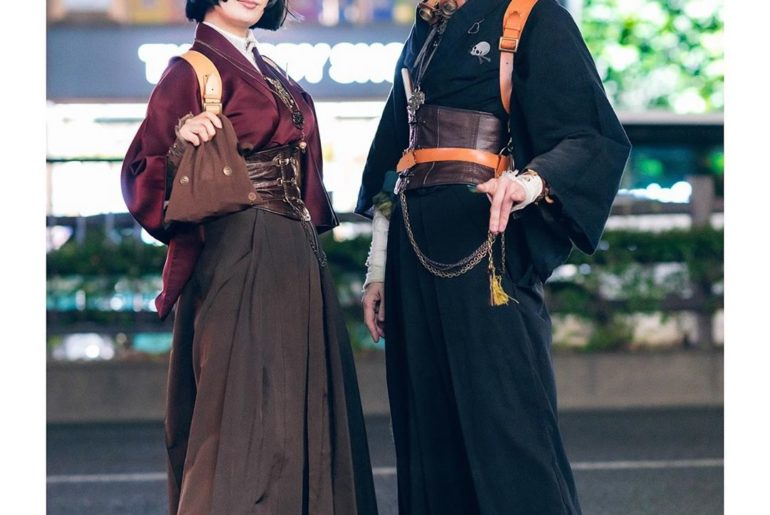 @Liz_Sato_ and @Bishoujo wearing Japanese steampunk fashion - including vintage ...