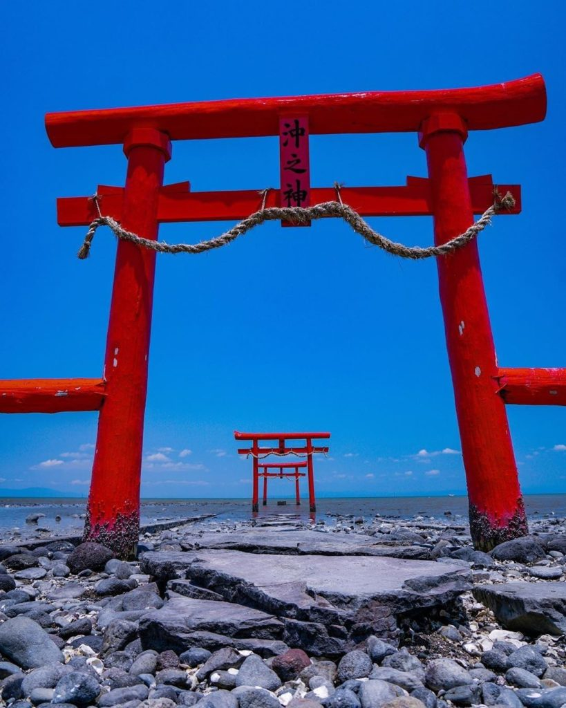 Torii arches that go on...and on...and on! These are part of Saga Prefecture's O...