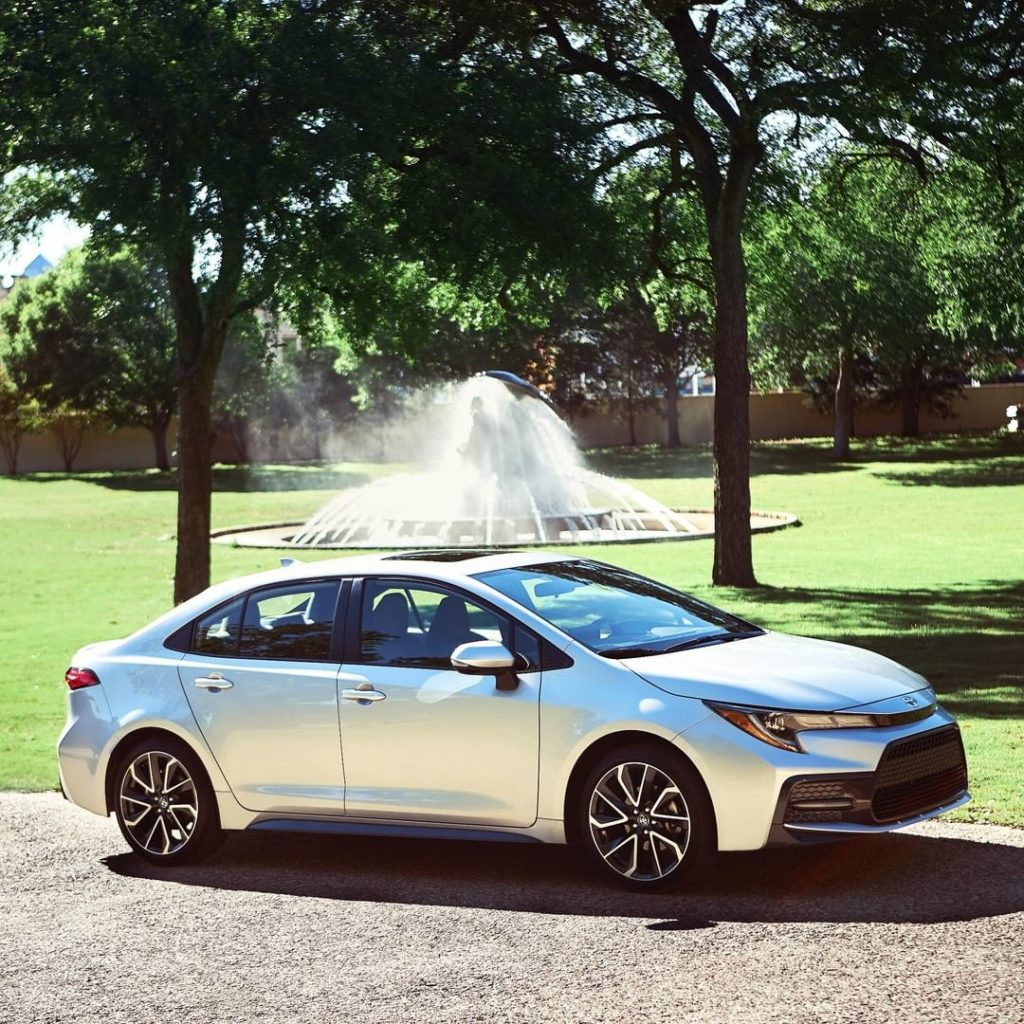 Aggressive sporty look that standouts for all the right reasons. #Corolla #LetsG...