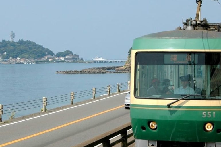 One hour from Tokyo, this retro railway line runs along the Shonan Coast between...