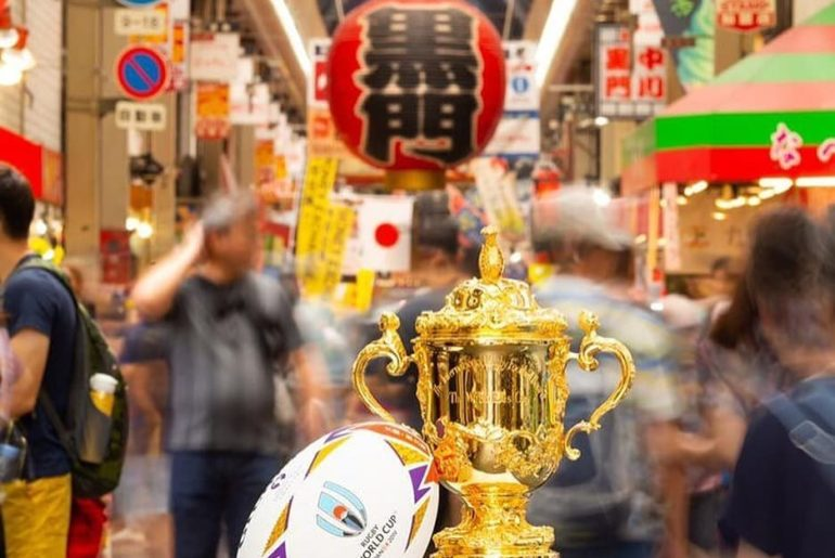 #ComingSoon #VisitJapan Credit to @rugbyworldcup : The Webb Ellis Cup has starte...