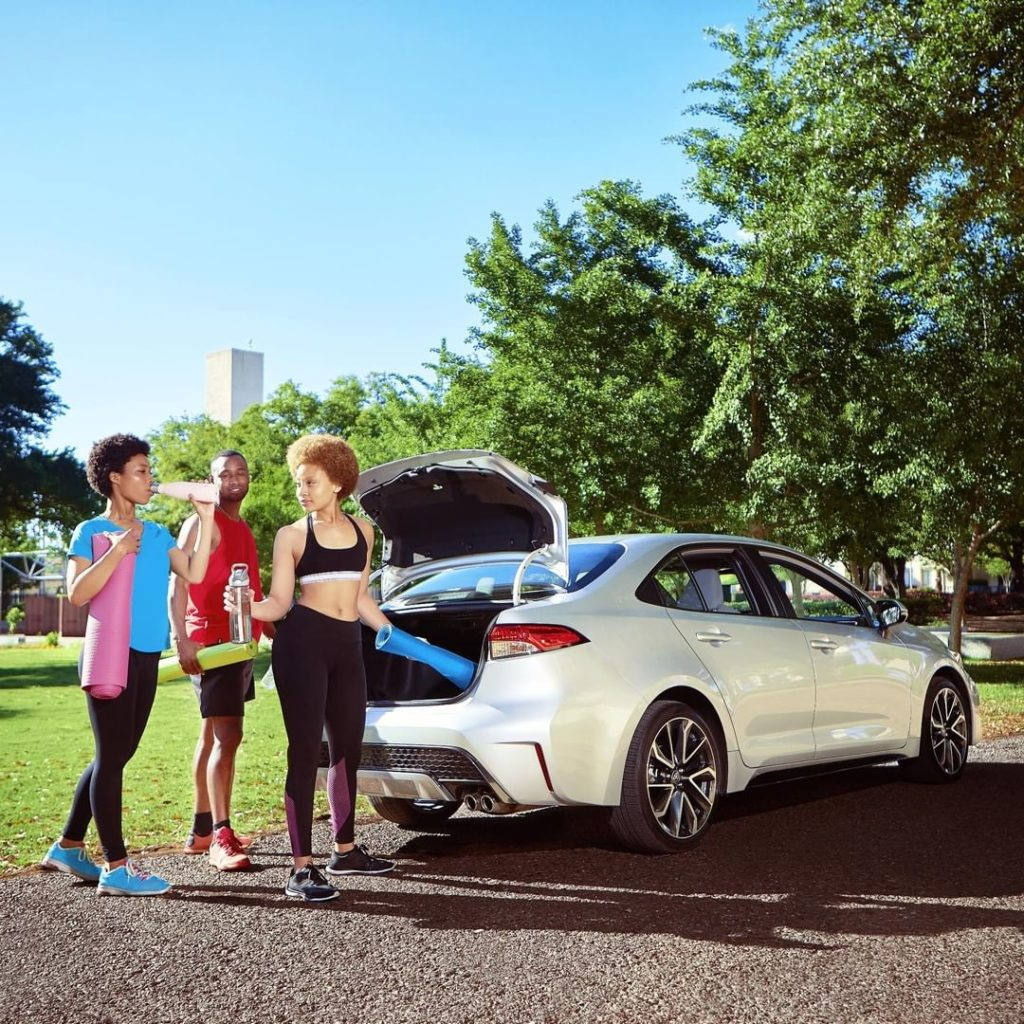 Spacious for all your important needs in the 2020 #Corolla #LetsGoPlaces...