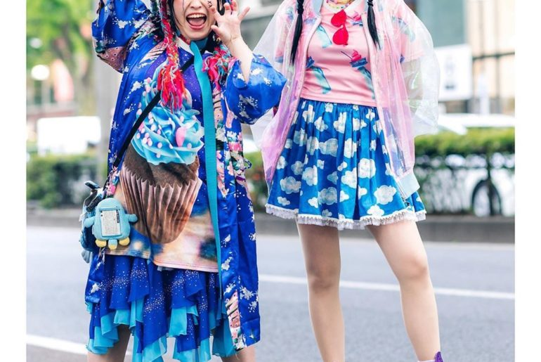 Purinchan (@Purin_Hayasaka) and Chami (@Chami8725) on the street in Harajuku wea...