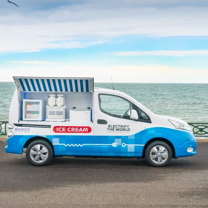 A zero-emission ice cream truck using recycled #EV batteries? Two scoops, please...