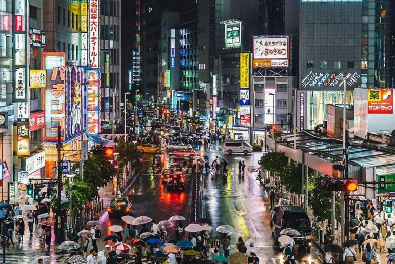 Thanks to @tokyo.ig for capturing this amazing shot of a rainy evening in Shinju...