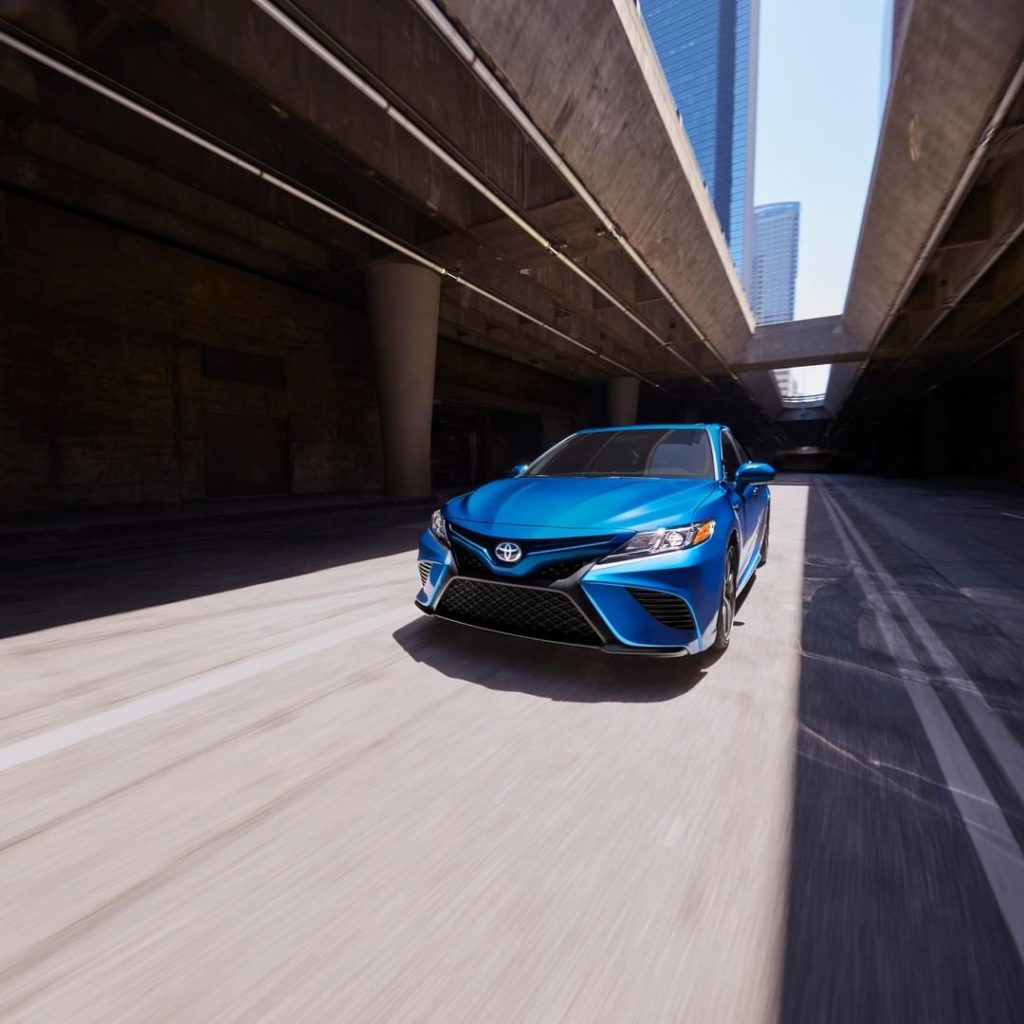 The daring side of dependability. #Camry #LetsGoPlaces...