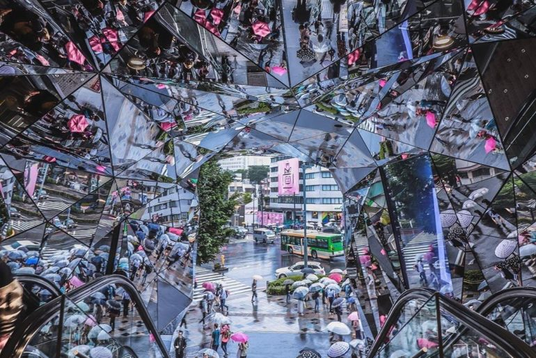 Need a minute to reflect? The Tokyu Plaza in #Omotesando has an impressive, almo...