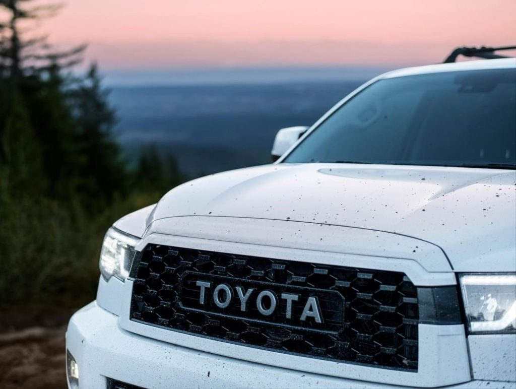 Standard equipment includes a heavy-duty #TRD skid plate, beefy suspension with ...