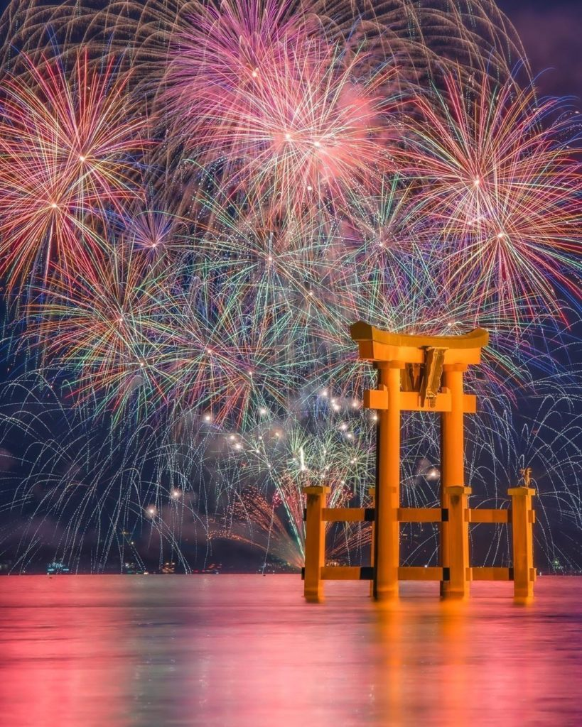 Fireworks shows are a big part of summer in Japan, and these ones over Lake Biwa...