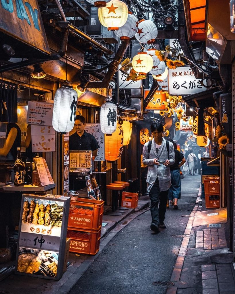Backstreets and alleyways in Japan often yield delicious food, thirst quenching ...