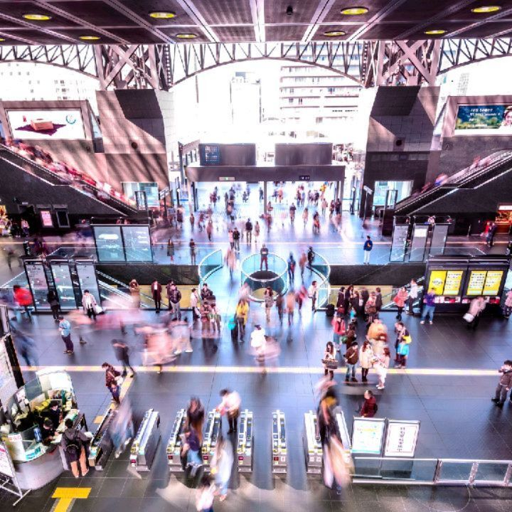 In sharp contrast to the tradition laden city it anchors, Kyoto Station is a mar...