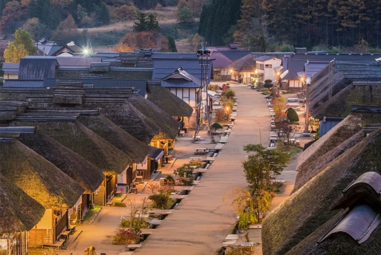 Step back in time at Ouchijuku in Fukushima, one of the most photogenic spots in...
