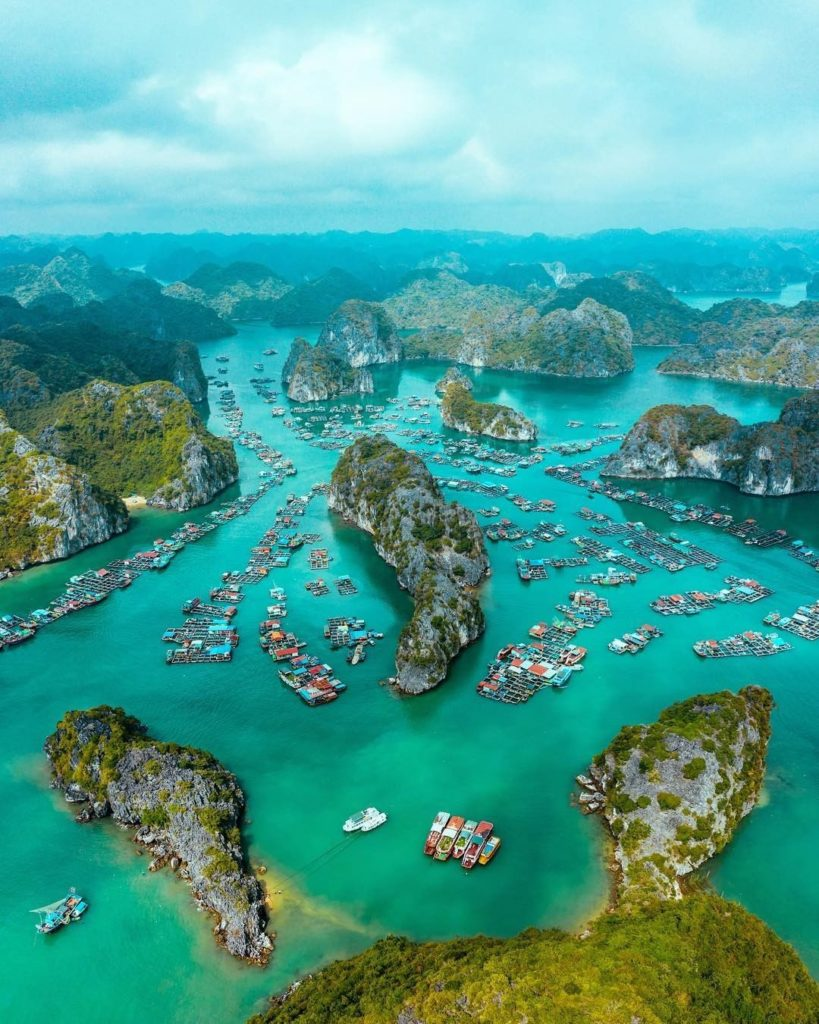 . #FreshAirJuly Just a quick day trip from Hanoi, #HalongBay is a masterwork for...