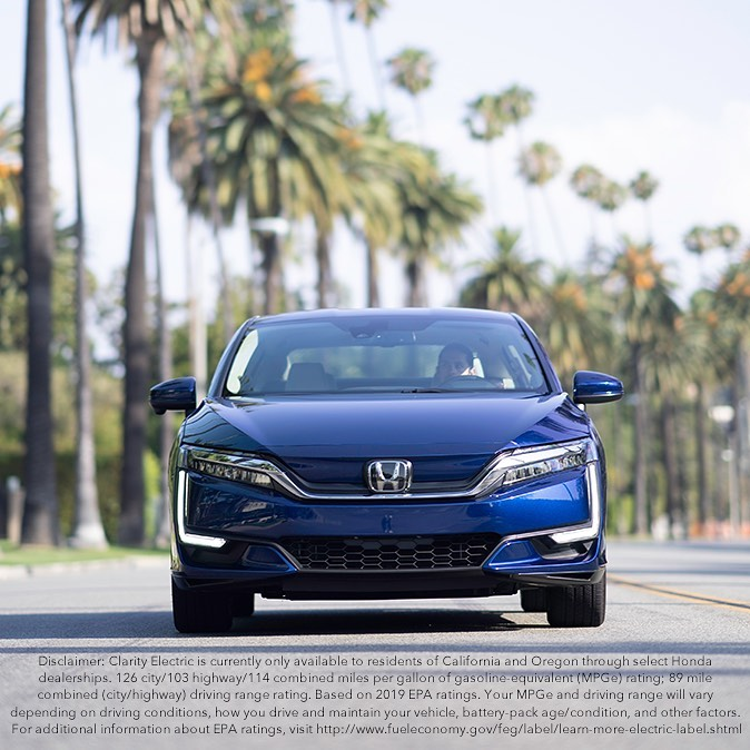 The #HondaClarity Electric is fully charged up for your summer and ready to make...