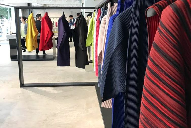 Japan is the only country with stand-alone Homme Plissé Issey Miyake stores. Tod...