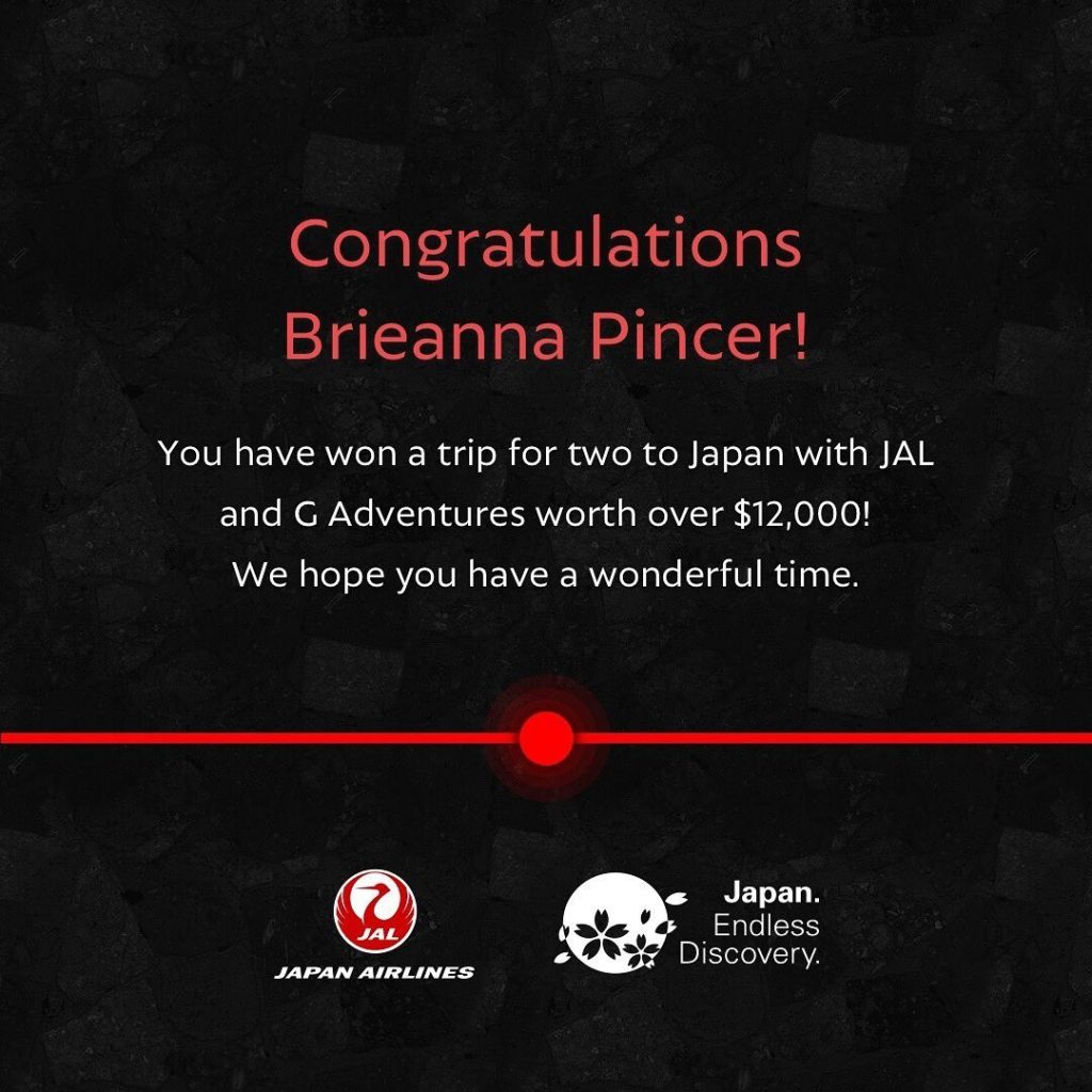 Congratulations to Brieanna Pincer, our lucky winner to the Discovery Dial compe...