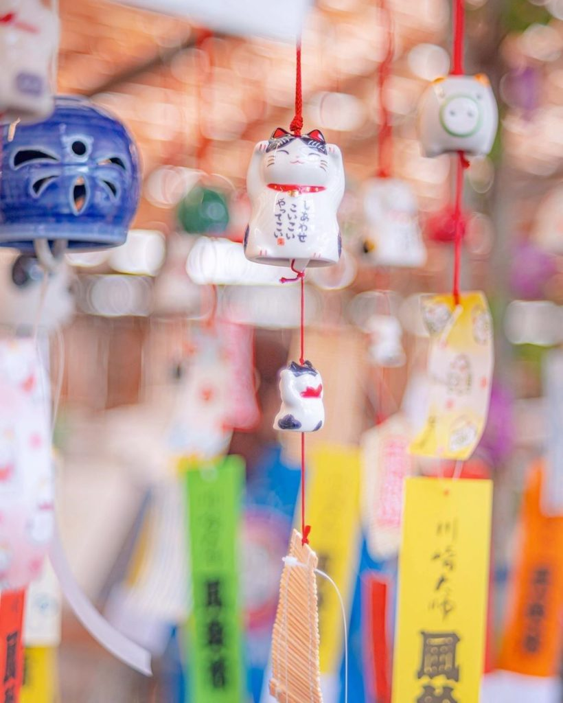 A pop of color for your daily Instagram scrolling-sesh! Furin, or windchimes, ar...