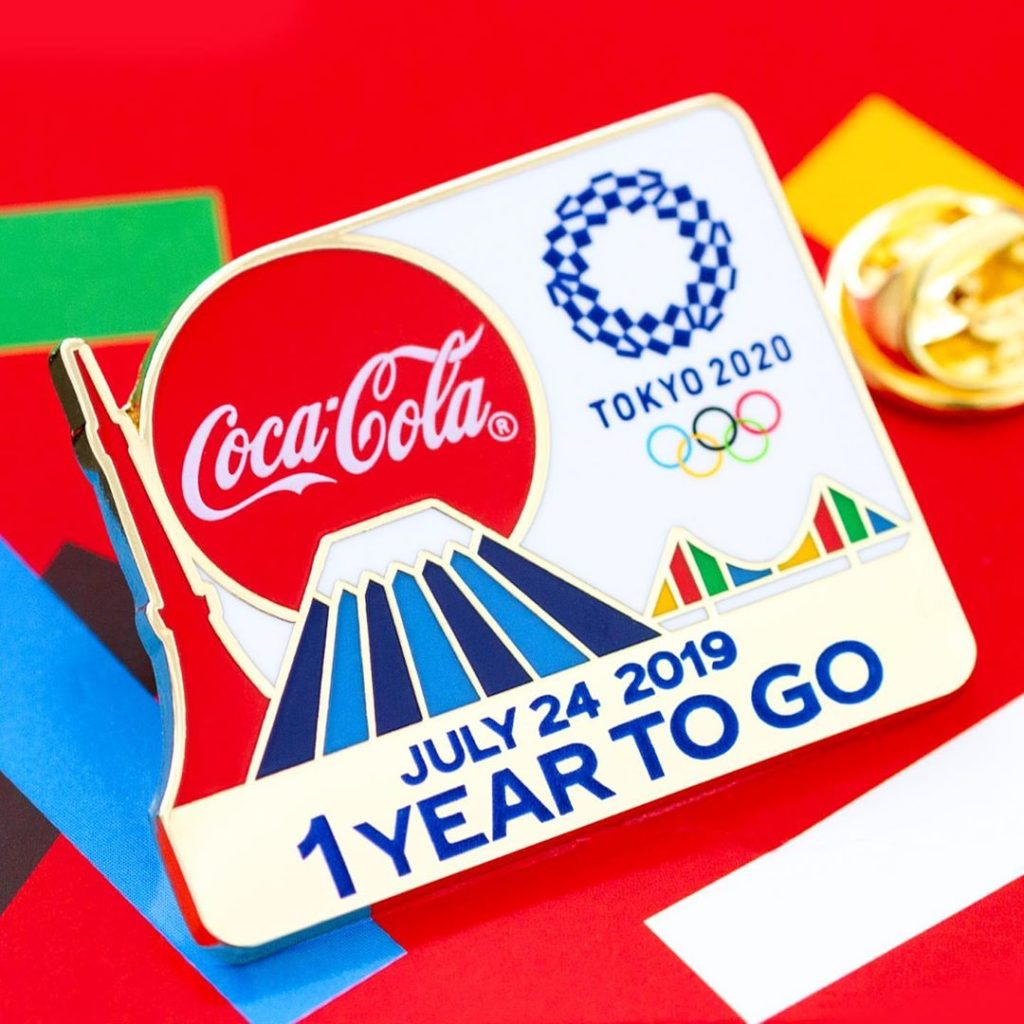 Celebrating #1YearToGo to Tokyo 2020 in style with imaculately designed @cocacol...