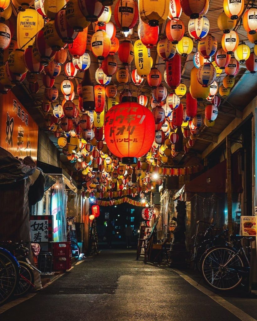 Ura-Tenma's Chochin-dori in Osaka just glows with hundreds of lanterns. Thanks t...