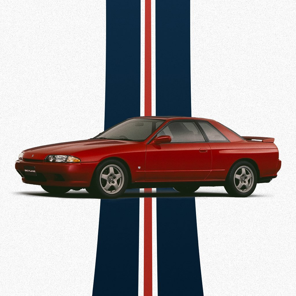 In May #1989, the 8th #Skyline #R32 series first applied the advanced 4-wheel mu...