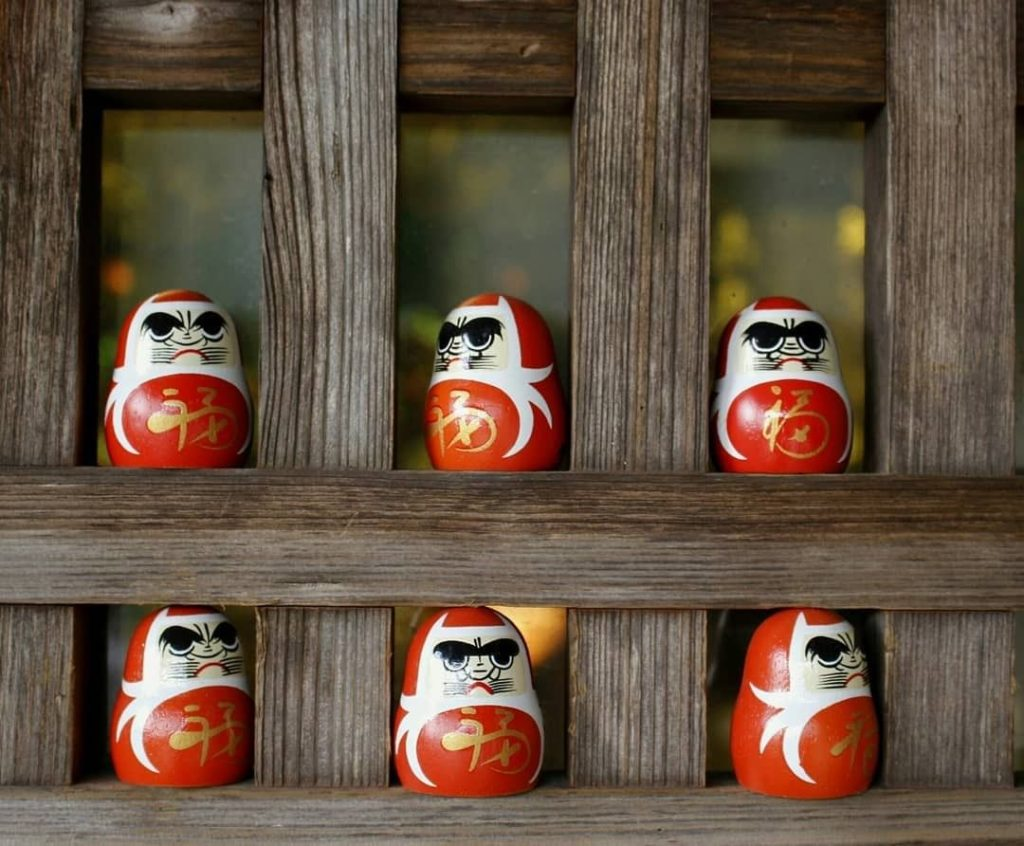 "Kanonji Temple is known as the ""hydrangea temple,"" but these cute daruma dolls a..."