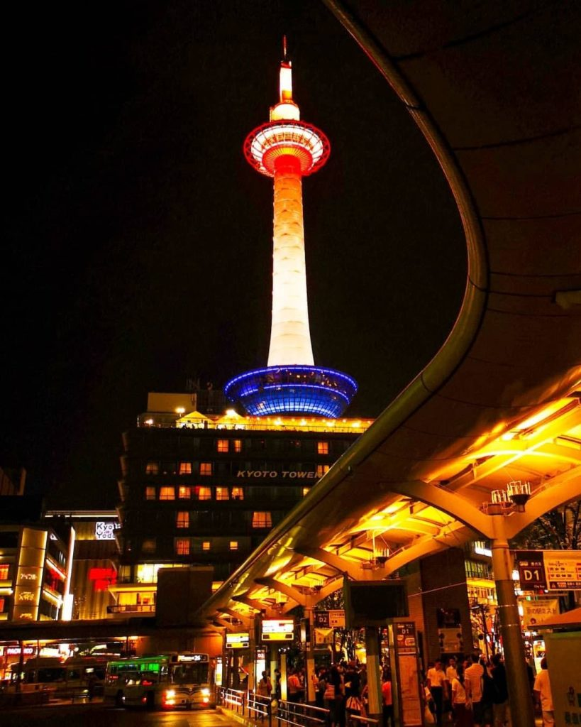 Built in 1963, Kyoto Tower sits right opposite Kyoto Station - and we are all ab...