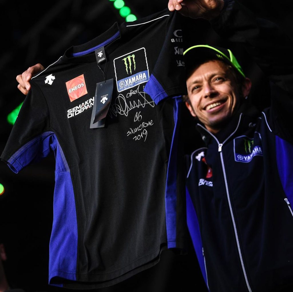 Yesterday @valeyellow46 and @maverick12official auctioned off items at the Day o...