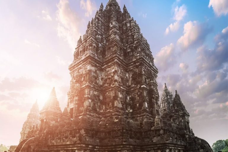 . Prambanan Temple, a UNESCO World Heritage Site, stands majestically as a maste...