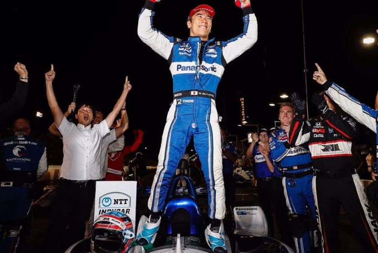 Congrats to Takuma Sato & @rllracing on winning the #bommarito500 @indycar race ...