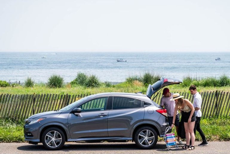 Storage is the name of the game when it comes to vacationing in the HR-V....