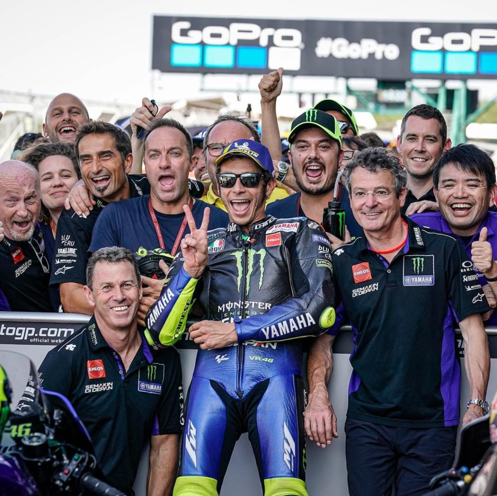 "@valeyellow46 : ""I'm very happy, because starting from the front row is importan..."