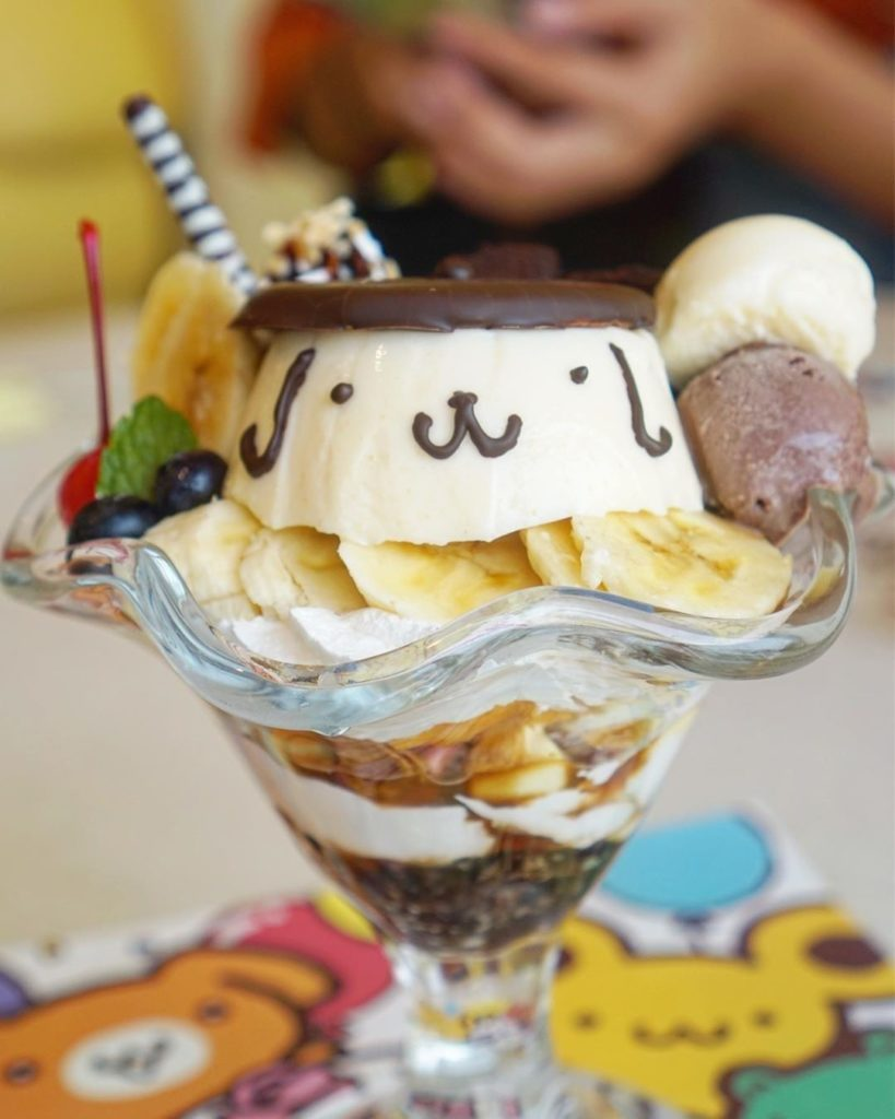 Pompompurin parfait perfection! @likelyeating enjoyed this at the @pompompurinca...