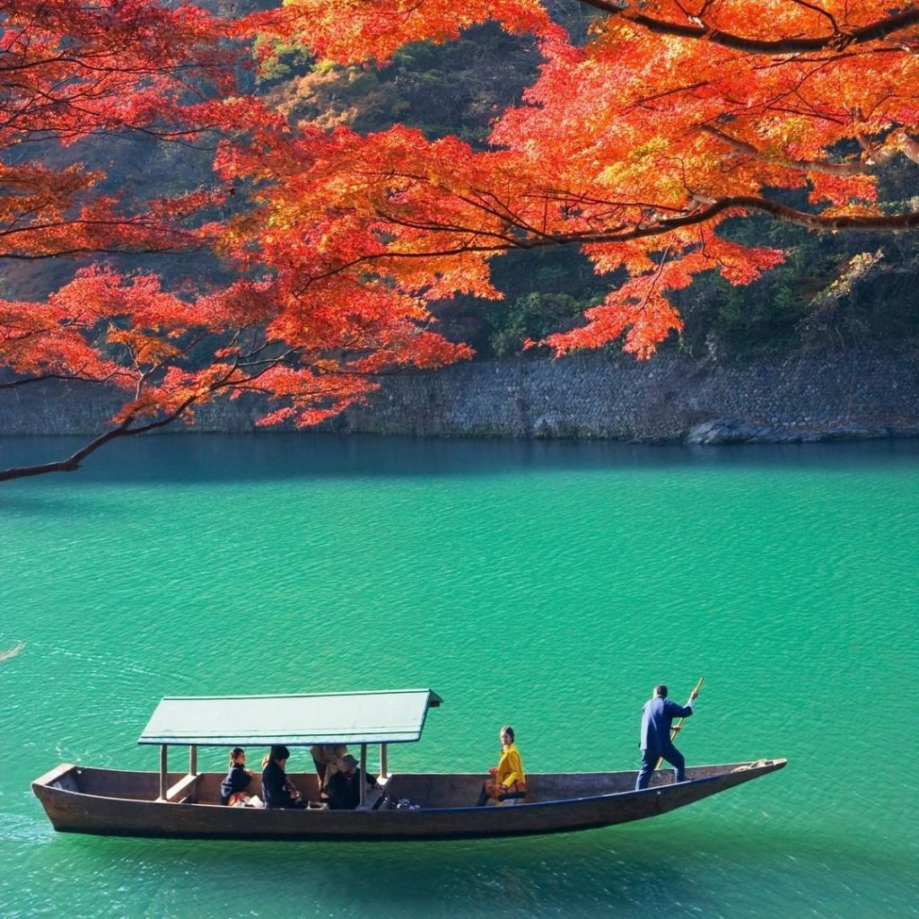 The Hozu River passes through Kyoto and the city of Kameoka, which lies to the w...