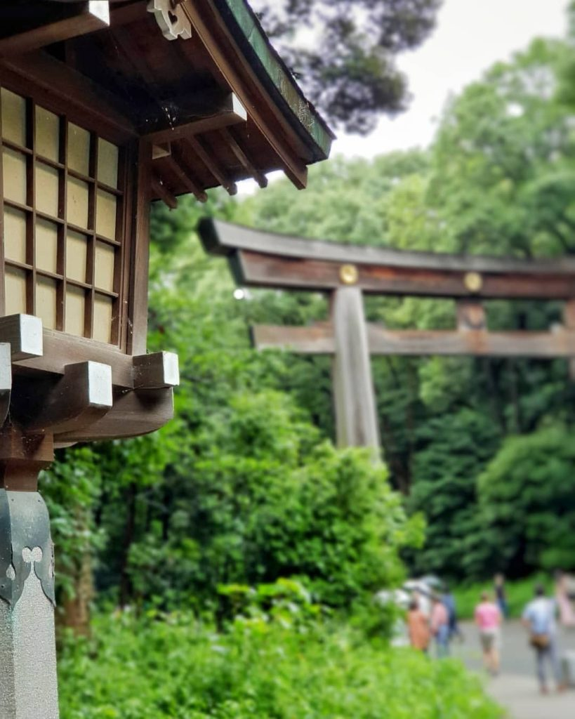 The towering torii arch at Meiji Jingu Shrine from a different perspective  : @g...