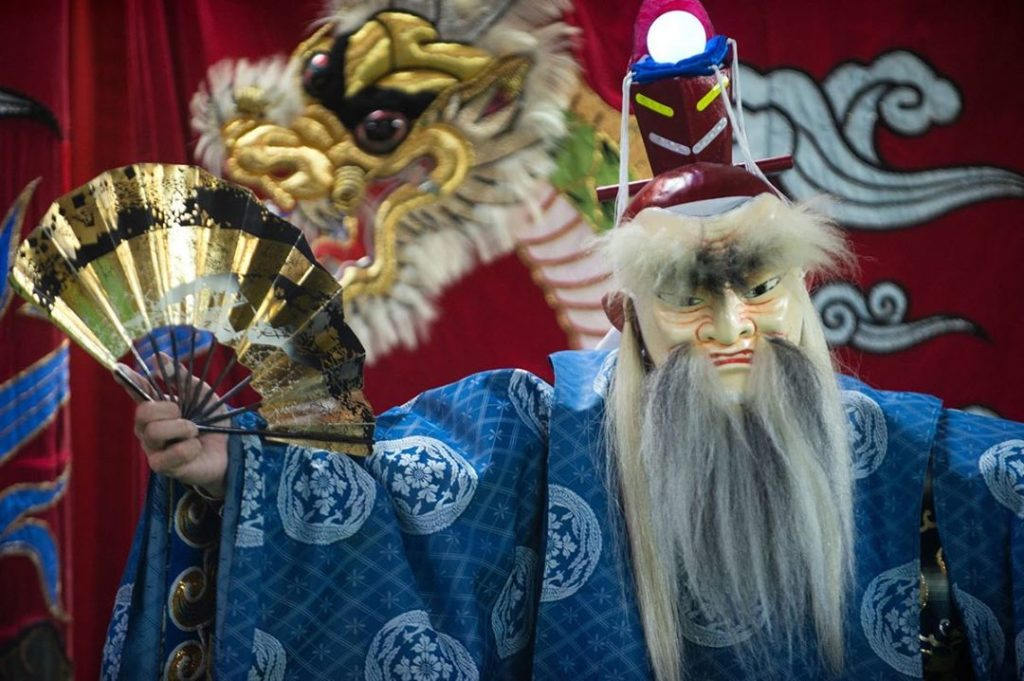 The mythical roots of kagura performances are recounted in Japan's earliest exta...