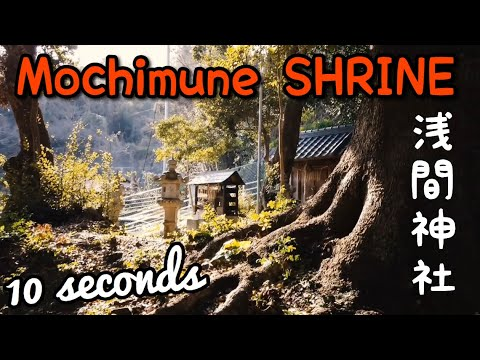 Be aware of the Lion!! Mochimune Shrine 浅間神社 (10 seconds)