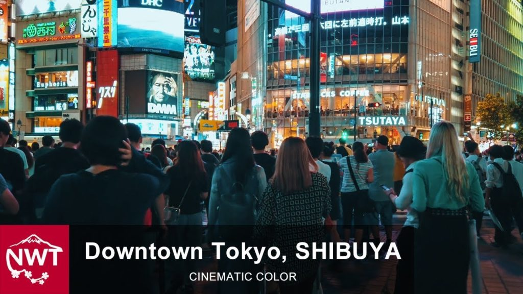 Downtown Tokyo   Busy Time In Shibuya - 4K/Osmo Pocket [Cinematic color]