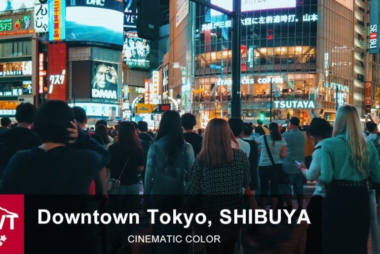 Downtown Tokyo | Busy Time In Shibuya - 4K/Osmo Pocket [Cinematic color]