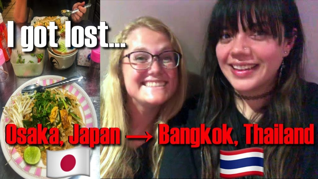 Traveling from Kyoto/Osaka, Japan to Bangkok, Thailand | Bangkok Hostel Tour | Thai Street Food
