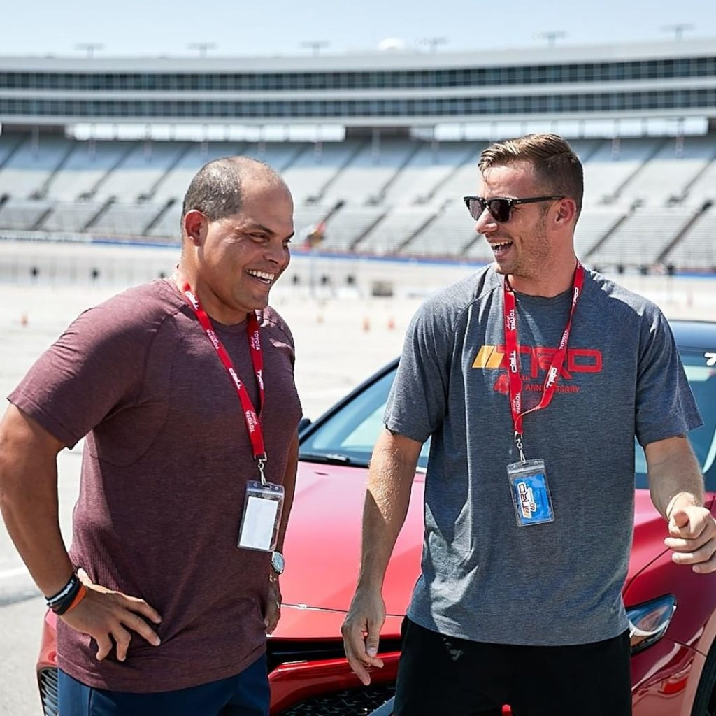 Two pros hit the track! #Camry #TRD...