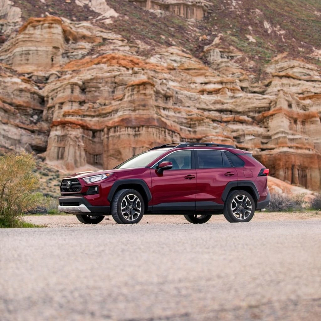 Taking you to the edge of adventure and beyond. #RAV4 #LetsGoPlaces...
