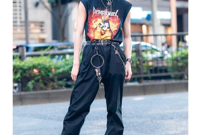 18-year-old Japanese student Rincho (@o______n___18) on the street in Harajuku. ...