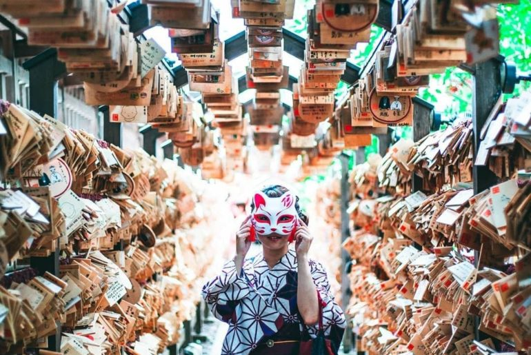 Feelin' foxy in a tunnel full of ema, the small wooden plaques you'll find at sh...