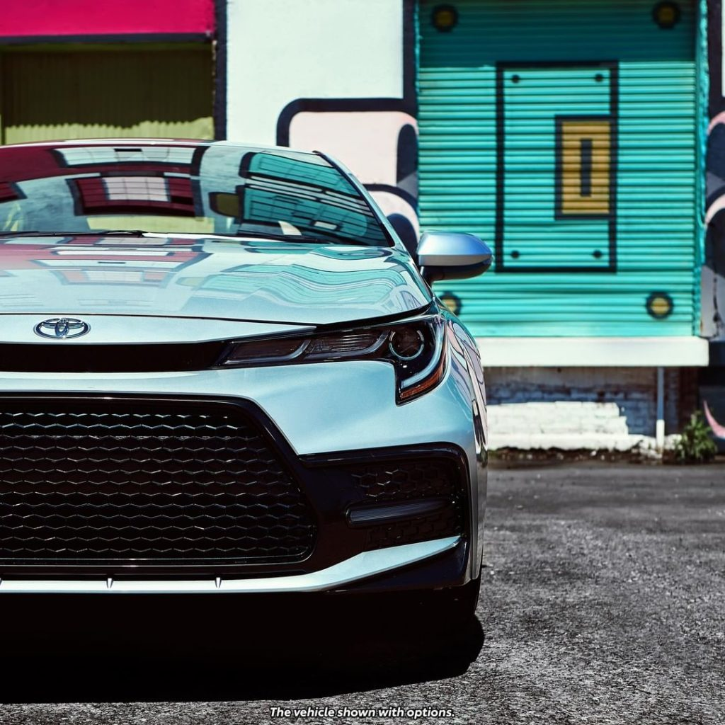 The sport mesh grille on the 2020 #Corolla stands out for all the right. #LetsGo...