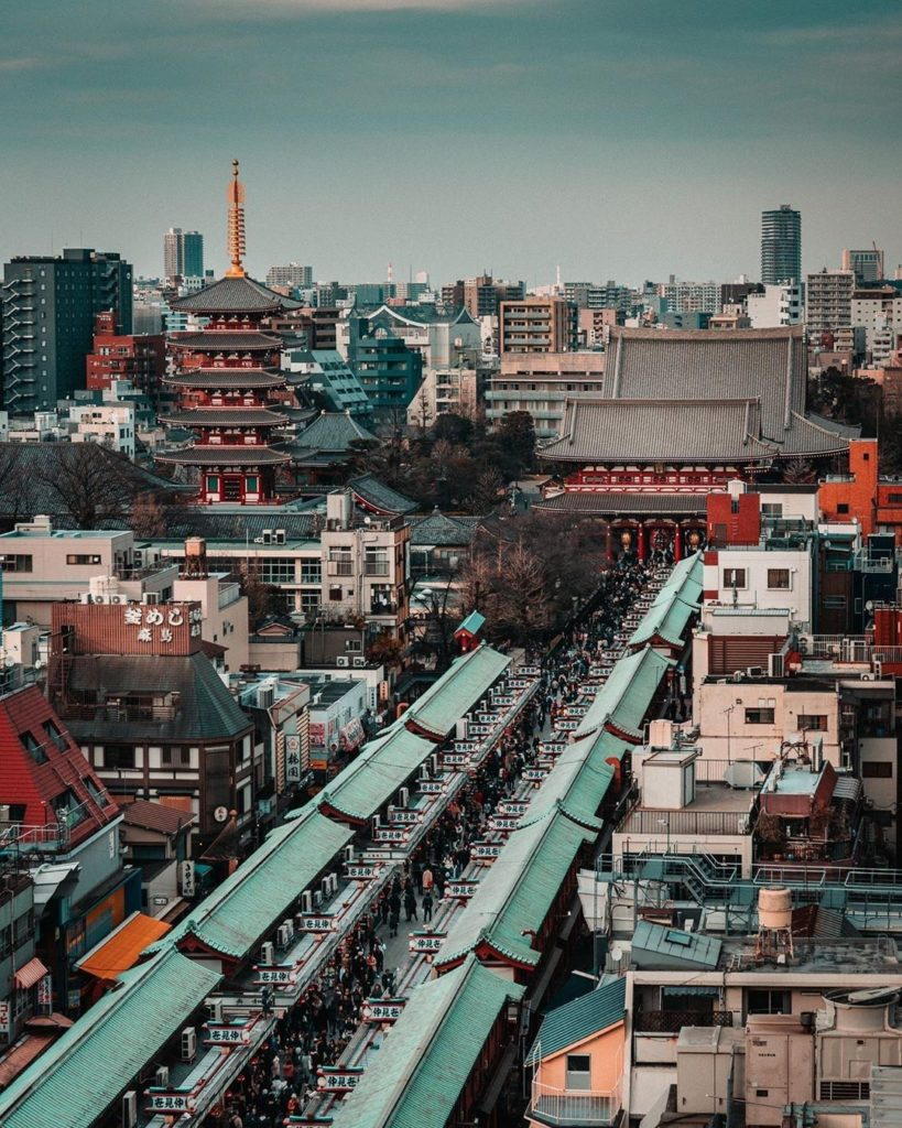 Asakusa from a different angle! Be sure to enjoy some traditional Japanese eats ...