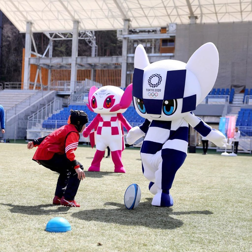 Japan is in #RWC2019 mood right now, and so are our mascots!  日本はいまラグビーW杯ムード...