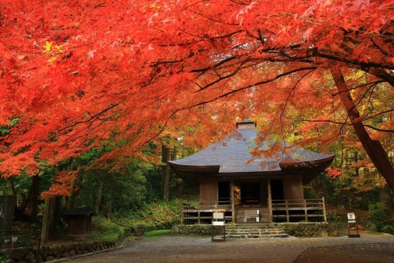 Chusonji Temple, a UNESCO World Heritage site, is located in Hiraizumi, Iwate Pr...