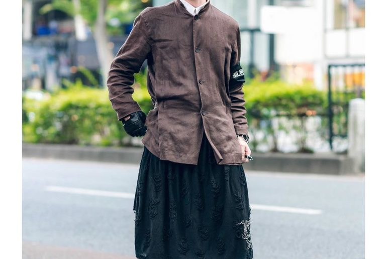 Dylan (@nixnizer) on the street in Harajuku wearing an Issey Miyake jacket over ...