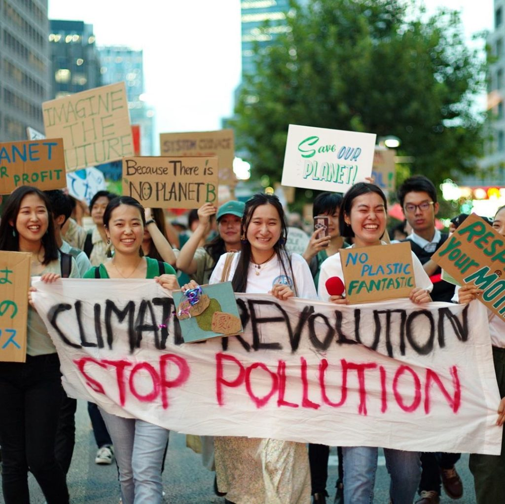 Fridays For Future events across Japan drew more than 5,000 participants on Sept...