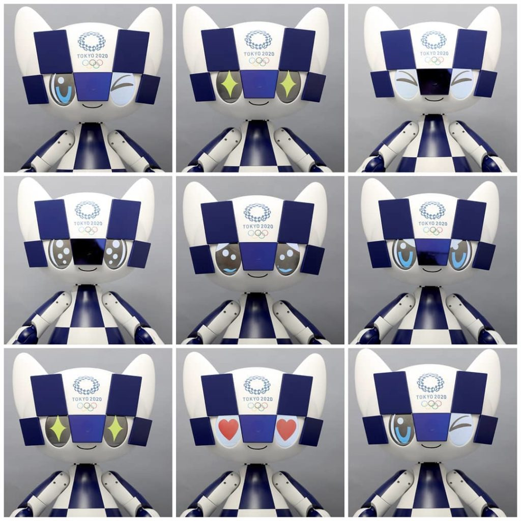 What is your #MondayMood?  See how the #Tokyo2020 Mascot-Type robot  #Miraitowa...